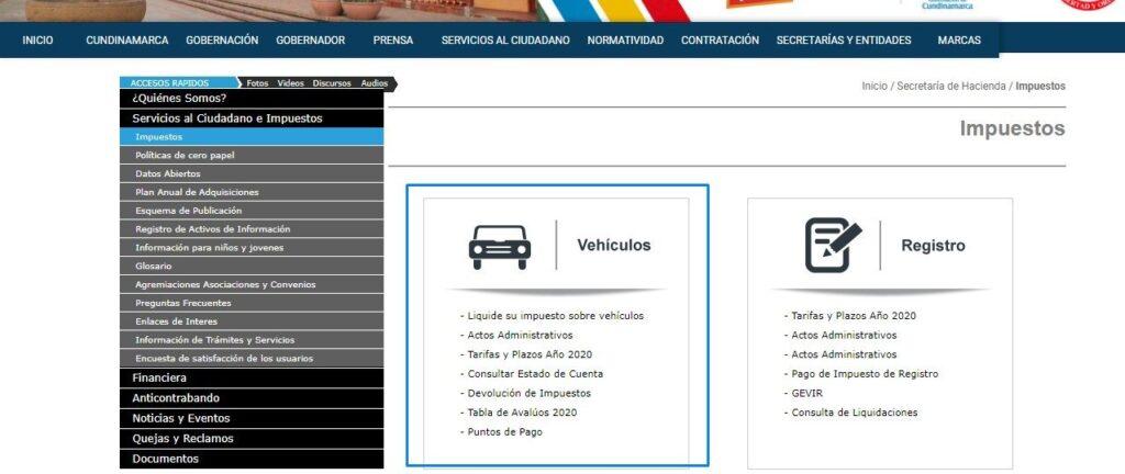 impuesto-vehicular-cundinamarca