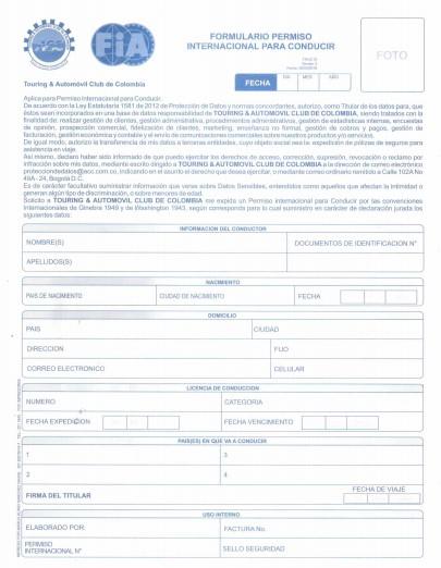 formulario-para-solicitar-licencia-de-conducción-internacional